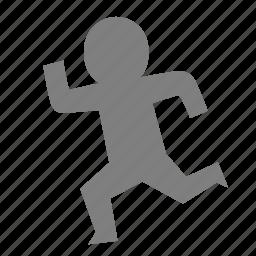 emoticon, escape, marathon, motion, race, reaction, run icon