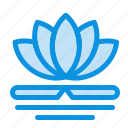 chinese, flower, massage, spa icon