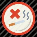 forbidden, no, sign, signaling, smoke
