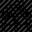 barrier, elegant, exhibit, museum icon