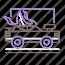 car, demolition, derby, fire icon