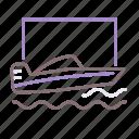 motor sport, motorboat, speedboat, water icon