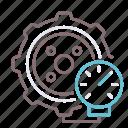 tire, car, pressure, vehicle icon