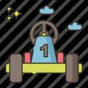 go, kart, racing icon