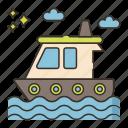 boat, motor sport, motorboat, water icon