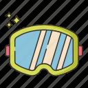 car, goggles, racing icon