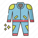 clothes, racing, suit icon