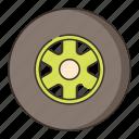 slick, tire, tyre, vehicle icon