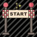 race, racing, start icon