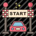 car, position, racing, starting