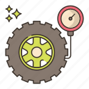 meter, tire, pressure, tyre icon