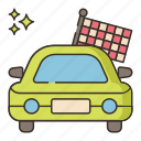 car, lap, victory, winner icon