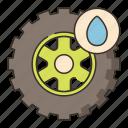 rain, tire, tyre, wet icon