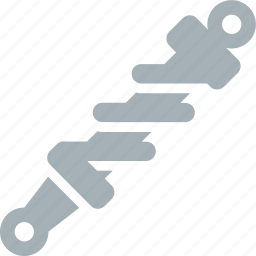 motorcycle, parts, suspension icon