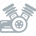 engine, motorcycle, parts icon