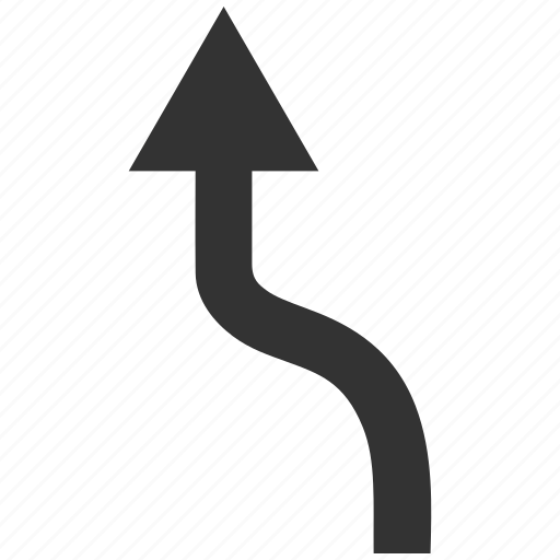 Arrow, curved, move, navigation, route, turn, up direction icon - Download on Iconfinder