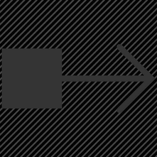 arrow, move, navigation, pull, right, send, transfer icon