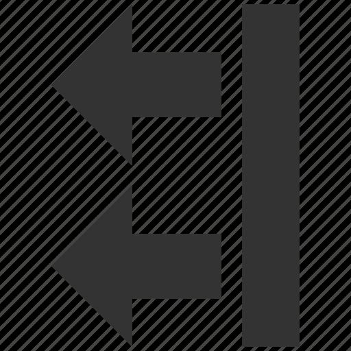 back, backward, left direction, move, navigation, send, transfer icon
