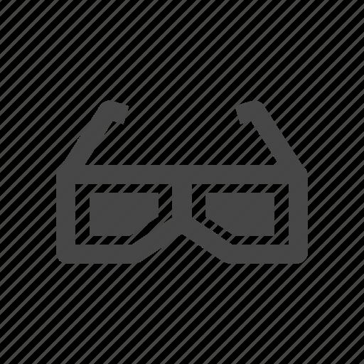 cinema, glasses, imax icon