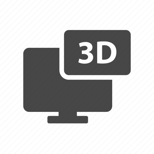 3d, movie, news, technology, television icon