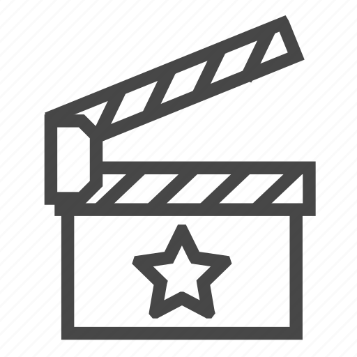 action clapboard movie icon