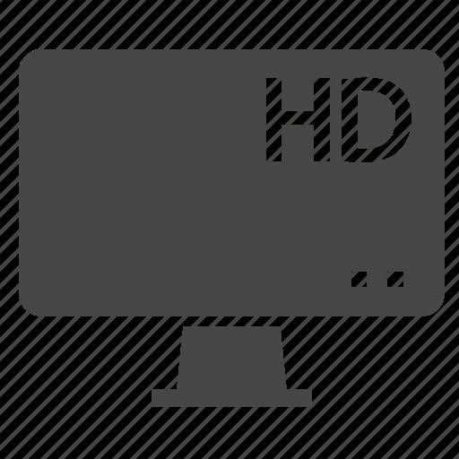 computer, hd, movie icon