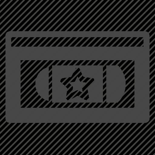 tape, vhs, video, videotape icon