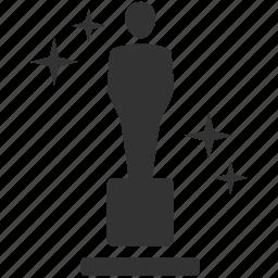 achieve, award, best, oscar, prize, trophies, win icon