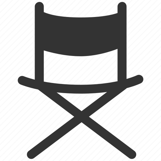 chair, director, director chair, field chair, folding chair, furniture, seat icon