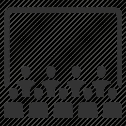 audience, cinema, movie, movie house, movies, stage, theatre icon