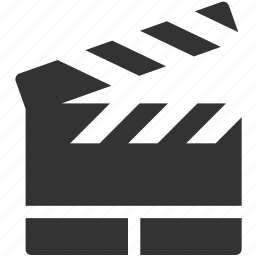 cinema, film, media, movie, multimedia, slate, video icon