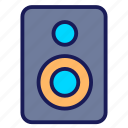 audio, movie, music, soun, sound, speaker icon