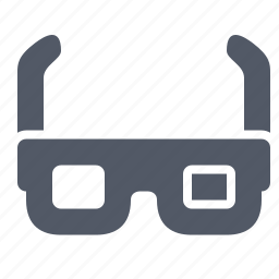 3d, cinema, effect, entertainment, gadget, glasses, special icon