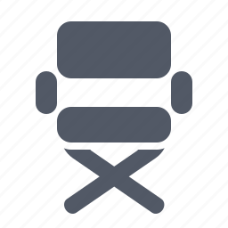 chair, director, movie, seat icon