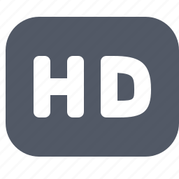 definition, entertainment, hd, high, stamp icon