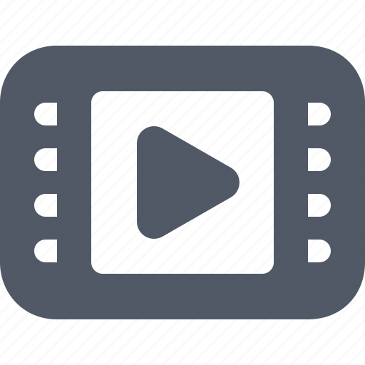 clip, entertainment, film, movie, play, tube, video icon