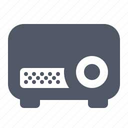 equipment, projector, video icon