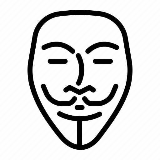 anonymous, fawkes, guy, mask, vendetta icon