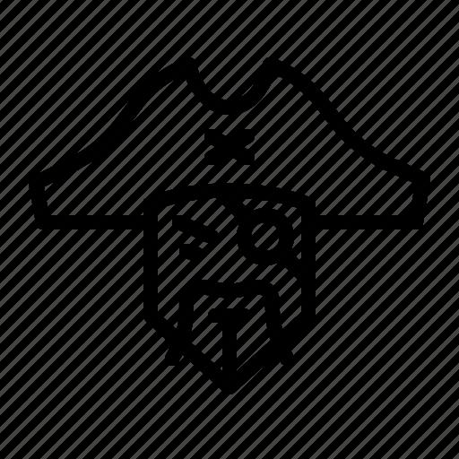avatar, bandit, eye, movie, patch, pirate, robber icon