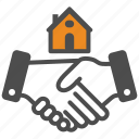 deal, hand, house, hunting, moving, rent icon