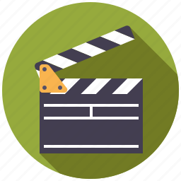 cinema, clapper, entertainment, movie, scene, take icon