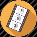 cinema, entertainment, film, movie, start, strip