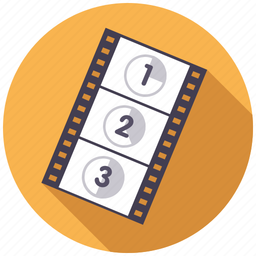 cinema, entertainment, film, movie, start, strip icon