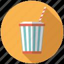 bucket, cinema, cola, entertainment, movie, soft drink, straw