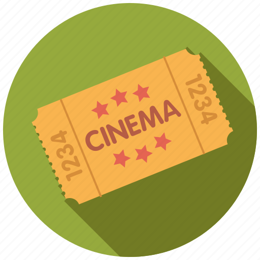admission, cinema, entertainment, entrance, movie, ticket icon