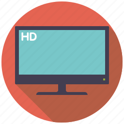 entertainment, flatscreen, hd, high definition, movie, television, tv set icon