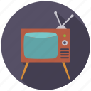 entertainment, movie, television, tv set icon