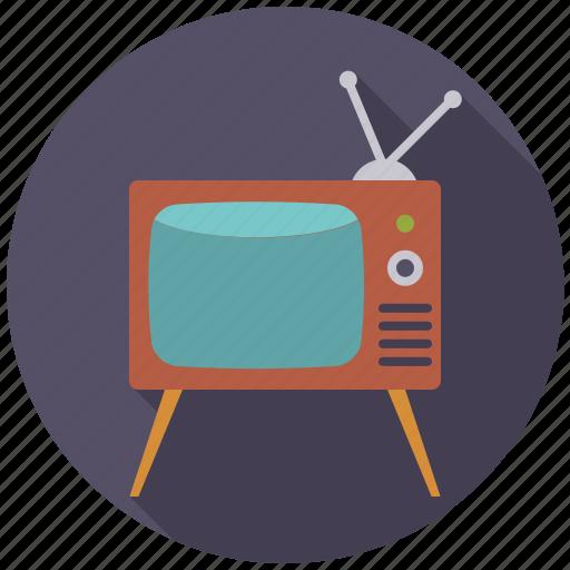 entertainment, movie, television, tv set icon