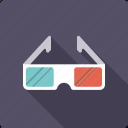 3d-glasses, cinema, entertainment, glasses, goggles, movie, three-dimensional icon
