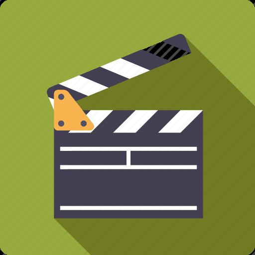 cinema, clapper, movie, scene, take icon